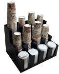 Vertical Coffee Cup and Lid Dispenser 3 deep 4 wide