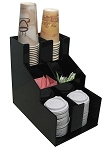 Vertical Condiment and Coffee cup & lid Dispenser 2 wide