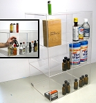 Commercial Display (6 bin tall): 50ml liquor shot bottles, mini sampler, point of sale items