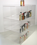 Commercial Display (9 bin): 50ml liquor shot bottles, mini sampler, point of sale items