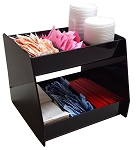 2 Shelf Wide Angled Condiment organizer BLACK ACRYLIC ONLY