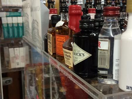 Commercial Display 9 Bin 50ml Liquor Shot Bottles Mini