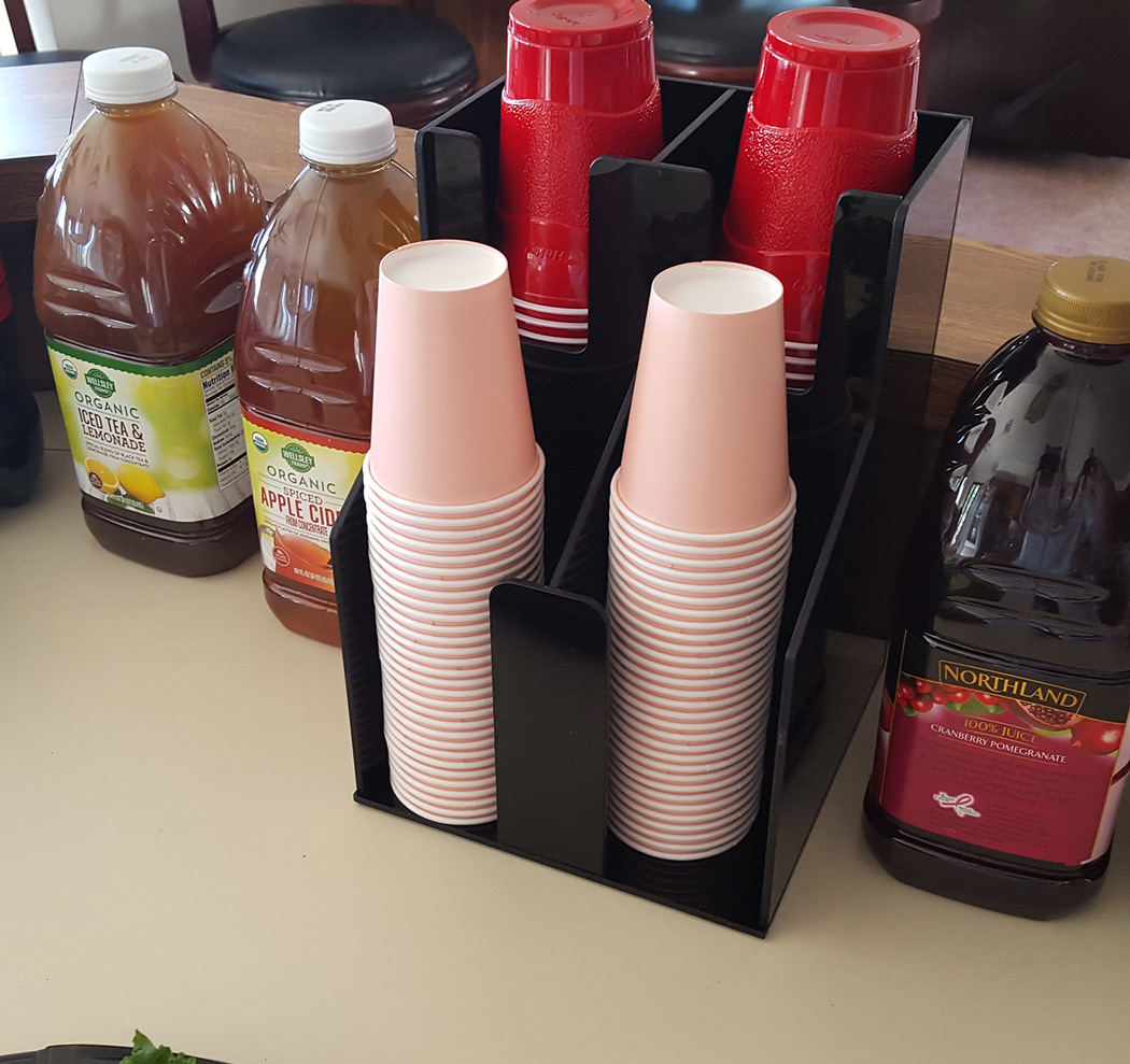 Cup Dispenser 2 Wide And 2 Deep For Coffee Cups And Lids