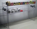 Raised Coffee Station Dispenser w/ coffee logo 2 shelf