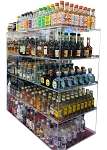 Commercial Display (12 bin): 50ml liquor shot bottles, mini sampler, point of sale items