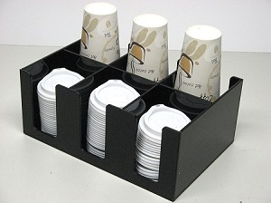 short coffee cup or lid dispenser 2d3w