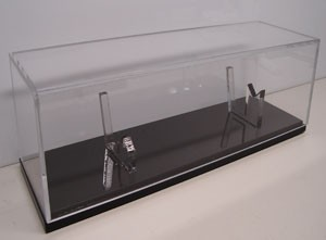 10 in single knife display case with sheath holder