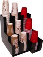 Coffee and Soda Cup and lid Dispenser Holder