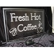 LED Coffee Sign with no power on LEDs