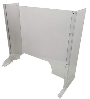 Cashier Protection Sneeze Guard at Convenience Store Checkout Counter (28x30)larger hole
