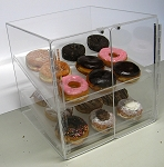 Pastry or donut display case 2 shelf