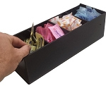 4 Slot Holder w/removable Dividers BLACK ACRYLIC ONLY