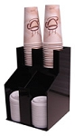 Vertical Coffee Cup Dispenser and Lid Holder 2 Wide 2 Deep