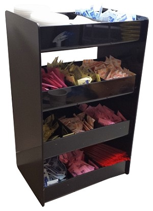 4 tall verticle condiment rack